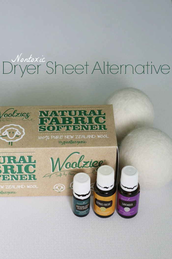 Wool dryer balls dry your clothes faster and don't contain chemicals like dryer sheets