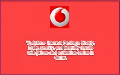 Vodafone Internet Packages details activation codes