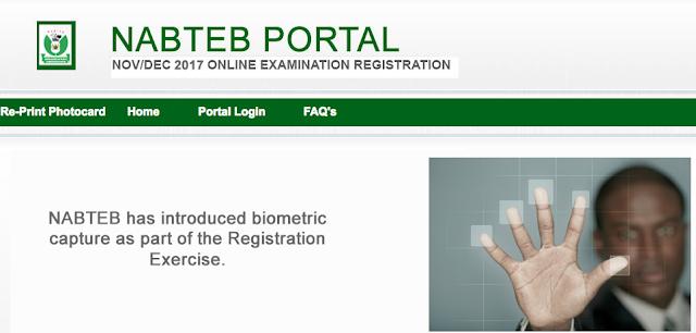 NABTEB GCE Nov/Dec Registration Form 2018