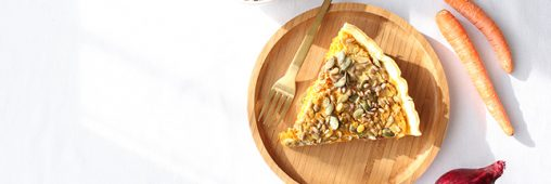 Recipe Vegan Pie with Carrots Spices and Seeds