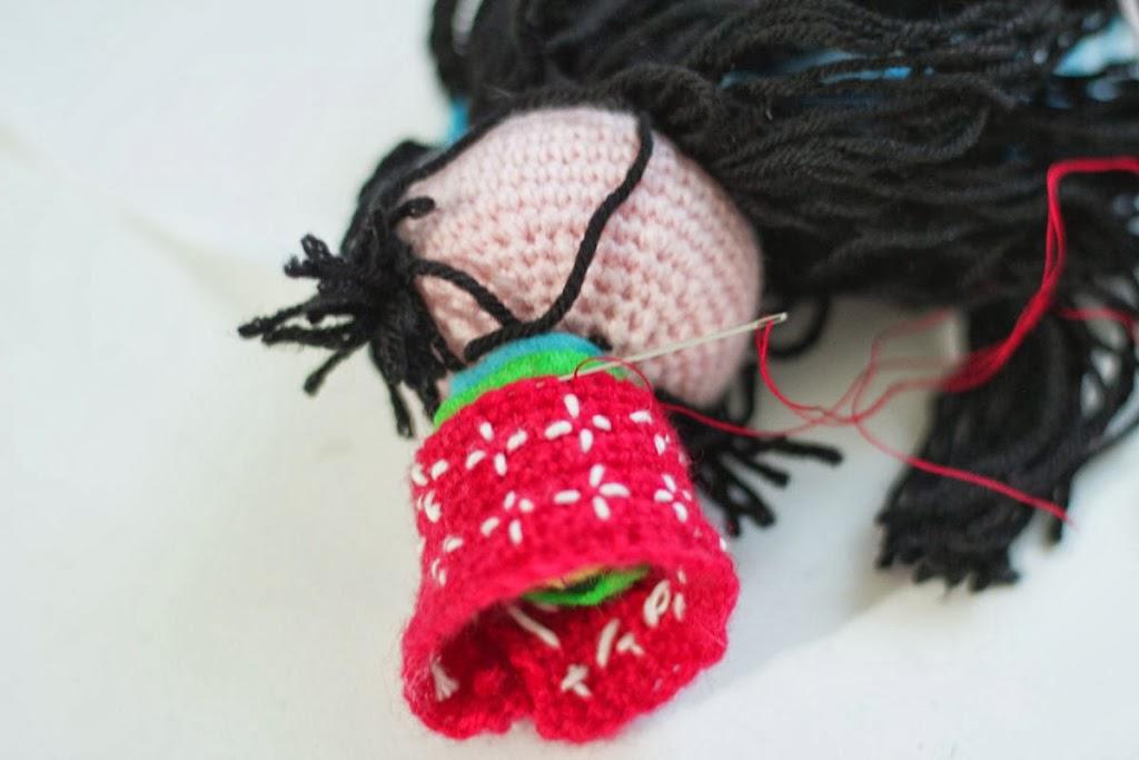 Amigurumi Kokeshi Dolls + pattern link - CROCHET | 683x1024