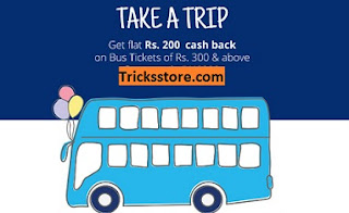 paytm today offer on bus booking cashback coupons
