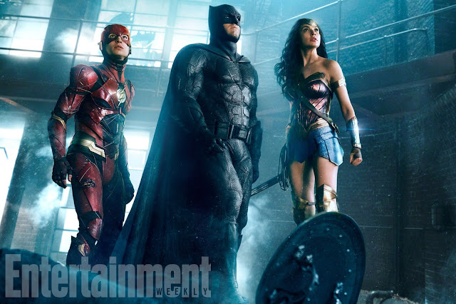New Justice League Movie Pic Batman Flash and Wonder Woman