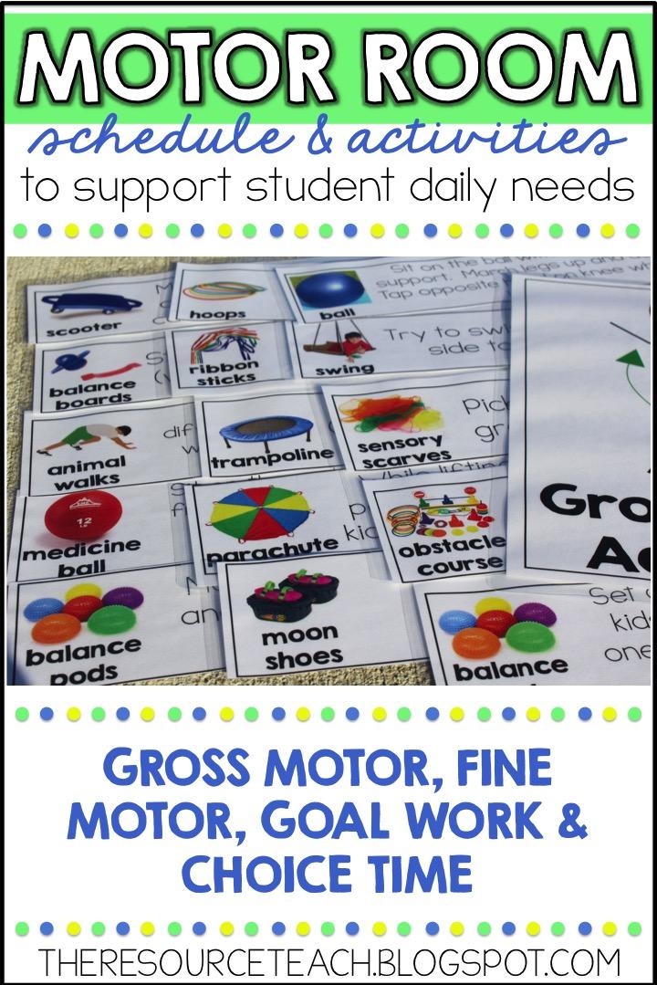 The Resource Teacher Structured Motor Sensory Room Activities