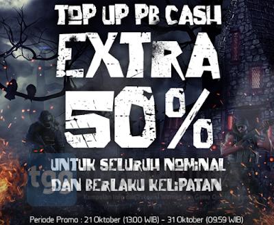 Info Lengkap Event Promo dan Bonus Halloween Cash PB Garena Indonesia