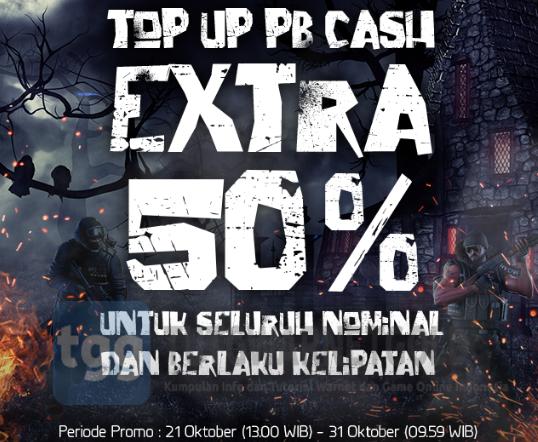 Info Lengkap Perhitungan Event Bonus Halloween Cash PB Garena