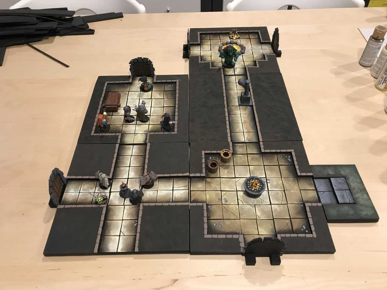Wooden Warriors: New Dungeon Tiles!