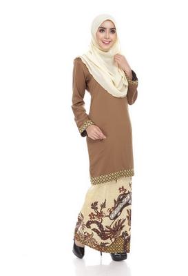 desain baju batik muslim