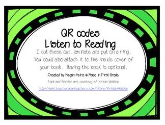 Listening Center with QR Codes | A Trendy Teacher