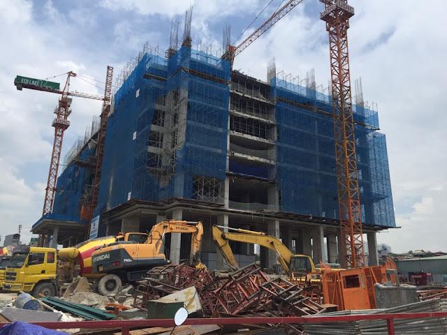 Tòa HH02 xây dựng đến tầng 8