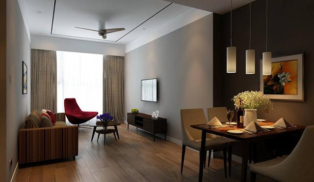 Phòng khách căn hộ Marriott Đà Nẵng