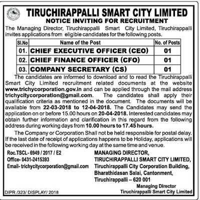 Tiruchi Smart City ceo application