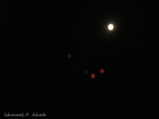 Red dots near the moon of Koh Samet Island