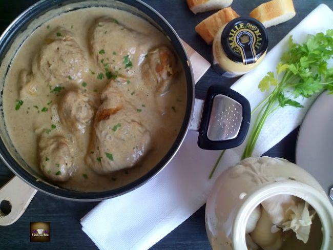 Pollo a la mostaza del chef Martín Berasategui