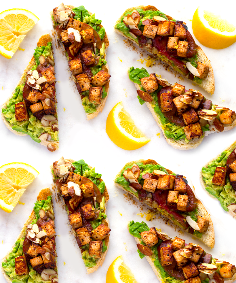 California-Style Smoky-Sweet Tofu Avocado Toast