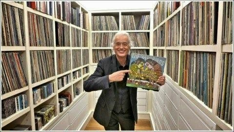 Jimmy Page likes vinyls