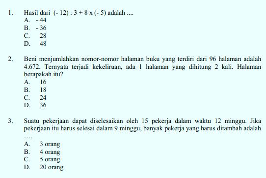 Download Soal Dan Kunci Jawaban Latihan Us Dan Un Smp Mts Berdasarkan Kisi Kisi Un Dan Un Smp