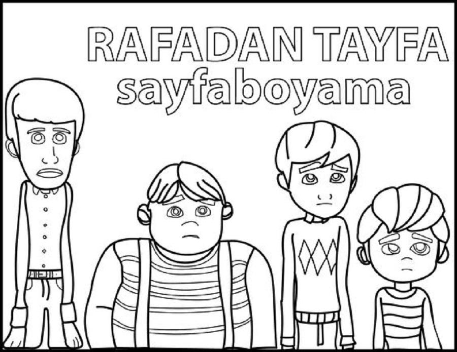 Rafadan Tayfa Boyama Sayfasi