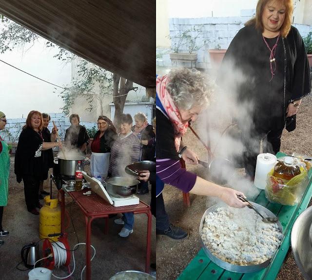 Τσικνοπέμπτη με χειροποίητες γκόγκες για τα ΚΑΠΗ Άργους, Κουτσοποδίου και Νέας Κίου
