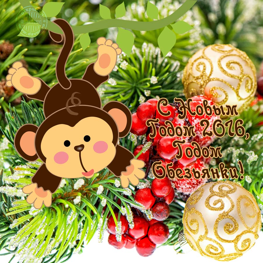 Поздравления на год обезьяны