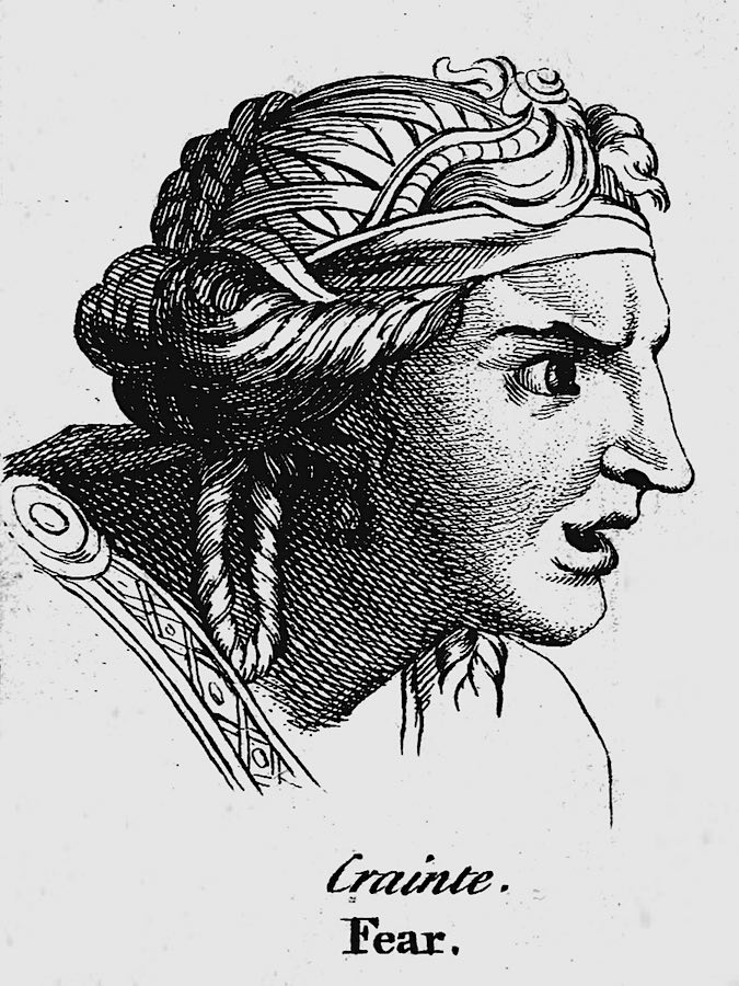 a 1600s illustration of fear by Charles Le Brun
