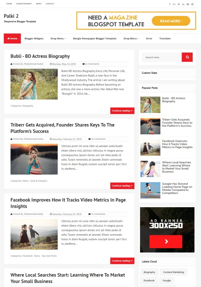 Palki 2 Best Free Responsive Blogger Templates