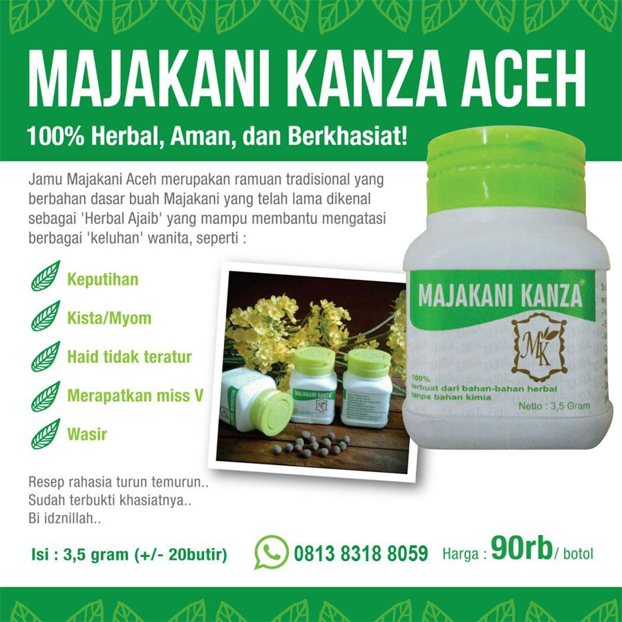 Majakani Kanza Obat Herbal Kesehatan Wanita Daftar Harga Terbaik Manjakani Aceh Gallery Of