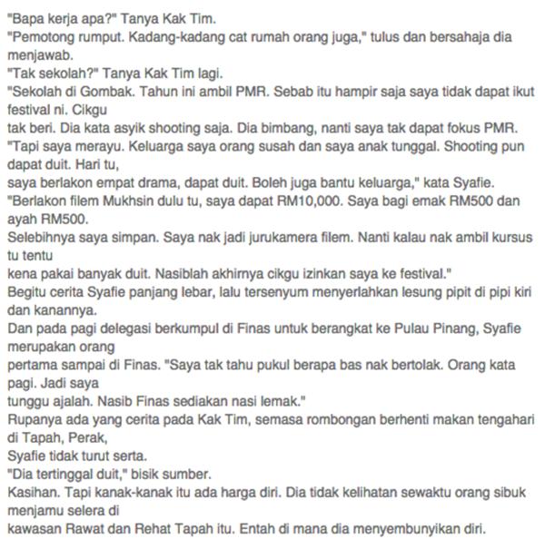 Inilah Kepayahan Yang Terpaksa Diharungi Oleh Syafie Naswip Sebelum Bergelar Artis..Sangat MENYENTUH PERASAAN!