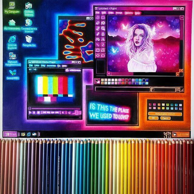 01-Computer-Screen-Sydney-Nielsen-Pencil-Drawings-www-designstack-co