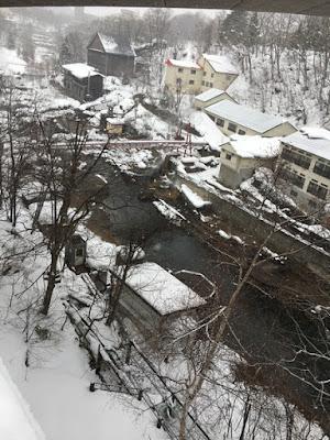 定山渓ビューホテル 定山渓大橋の下付近