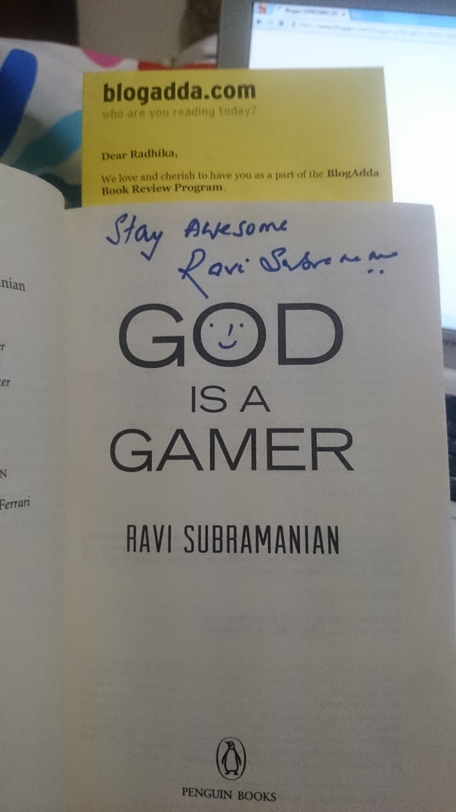 god is a gamer book review expressing life