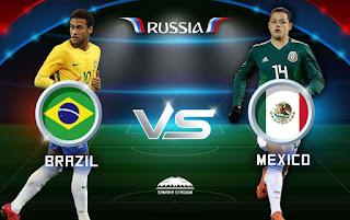 مشاهدة مباراة البرازيل ضد المكسيك لعبة بث مباشر اليوم الاثنين 2-7-2018 كأس العالم 2018