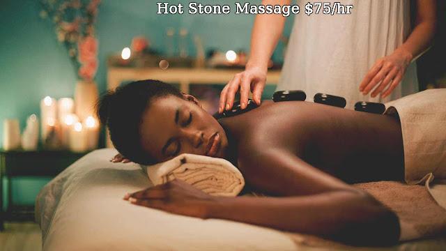 Hot Stone Massage $75/hr