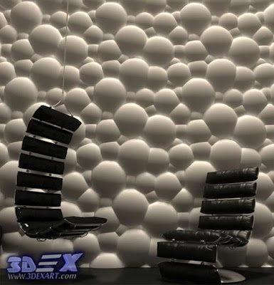 3d gypsum wall panels, 3d plaster wall paneling design, bubbles wall panels