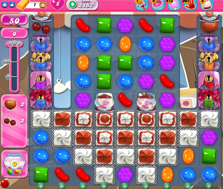 Candy Crush Saga level 2157