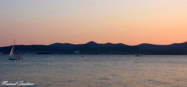 Zadar, tramonto sul lungomare