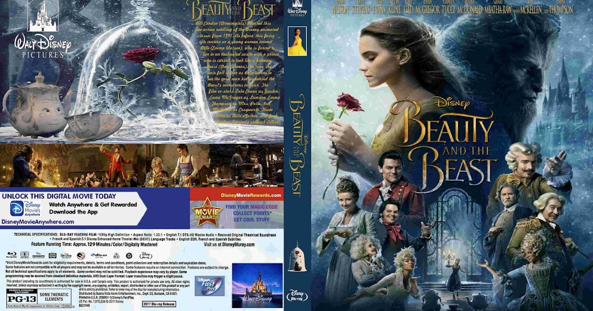 Base Capas 1: Beauty And The Beast 2017 - Cover DVD Movie