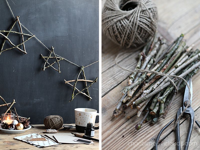 twigs stars garland diy