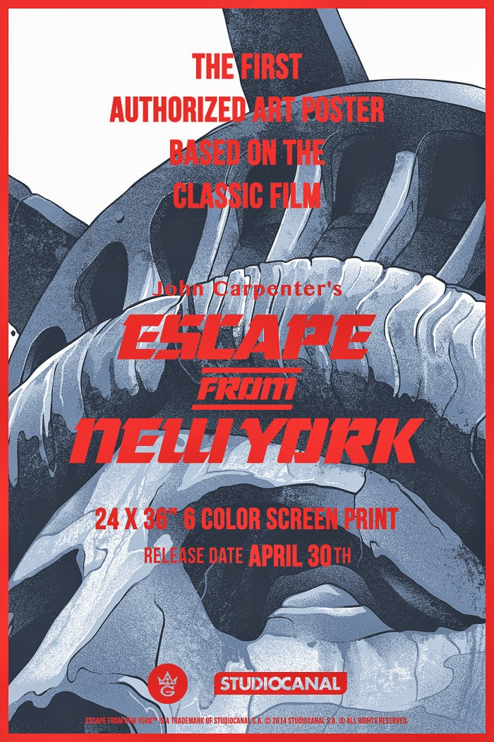 Grey Matter Art - Escape from New York Screen Print Teaser Image by Gabz