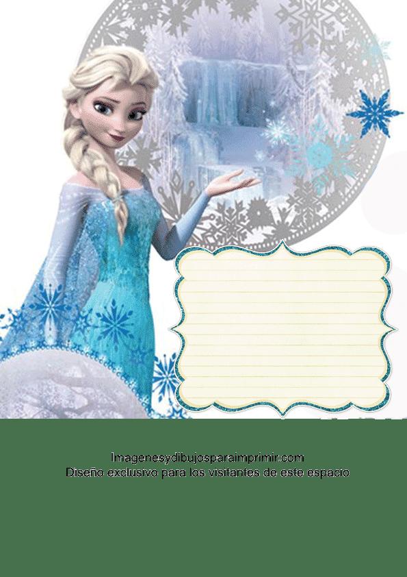Para Imprimir Tarjetas De Invitacion De Frozen