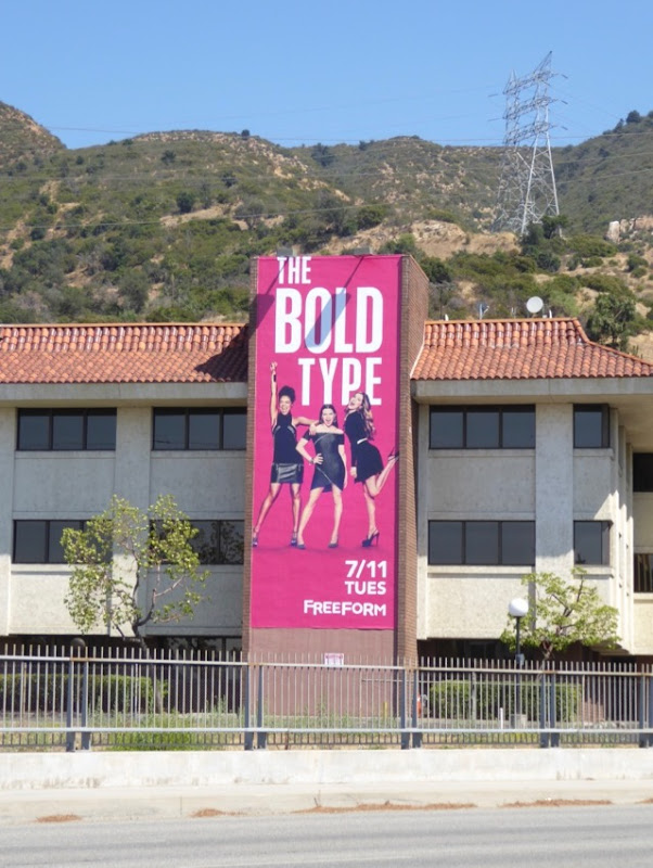 Bold Type series launch billboard