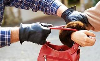 कोई पर्स चोरी कर के भाग गया.