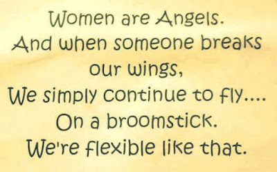 inspirational quotes women are angels. and when someone breaks our wings.