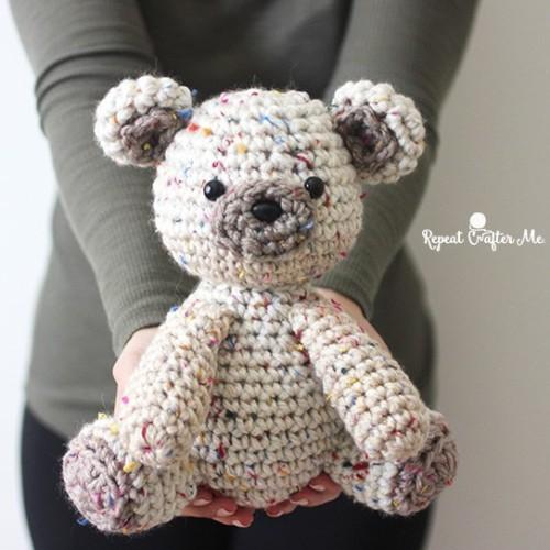 Caron Sprinkle Cakes Crochet Birthday Bear - Free Pattern