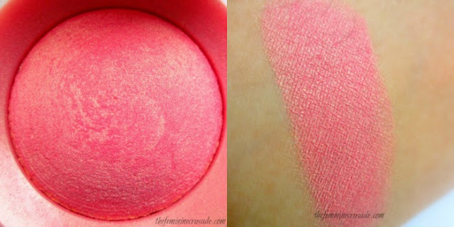 Bourjois Little Round Pot Blush in Rose D'Or 34 Swatch