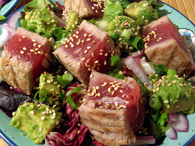 Closeup of Grilled Tuna Salad