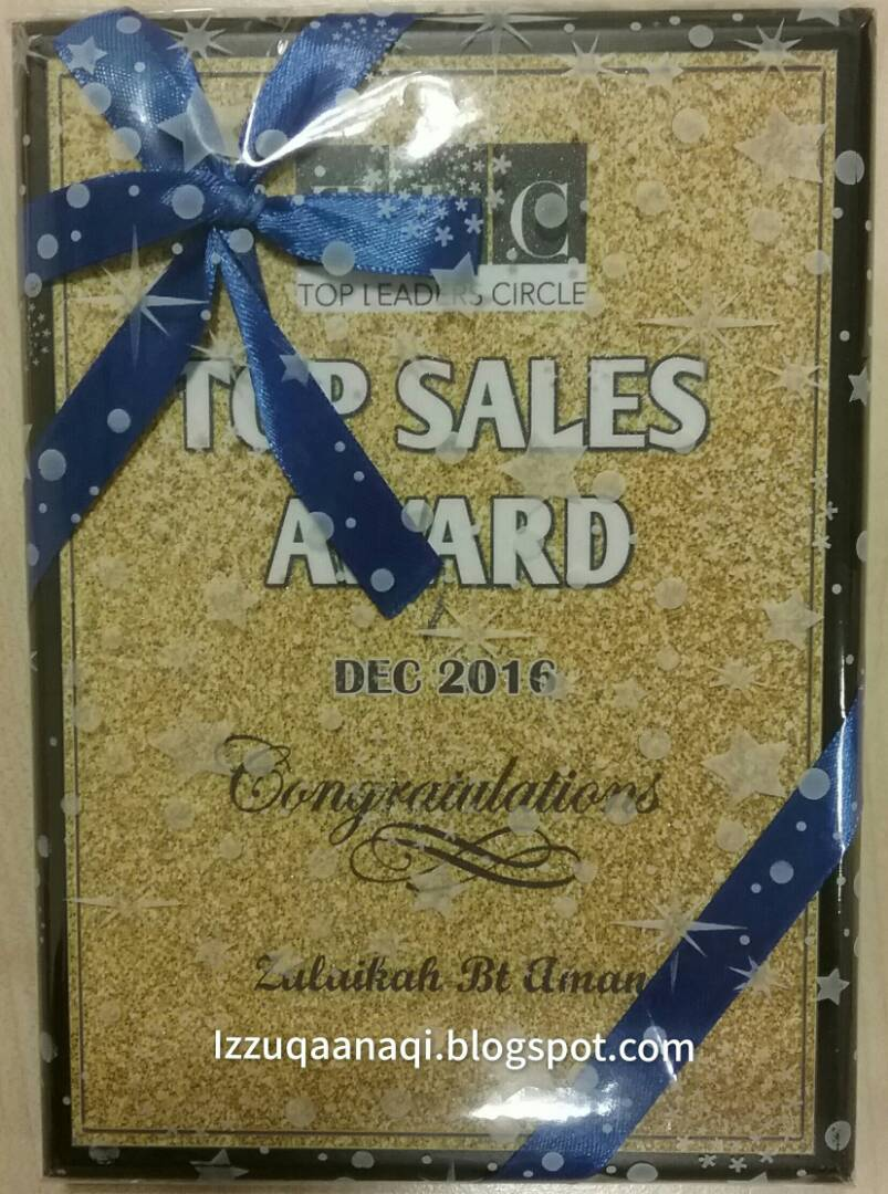 TOP SALES AWARD JAN 2017