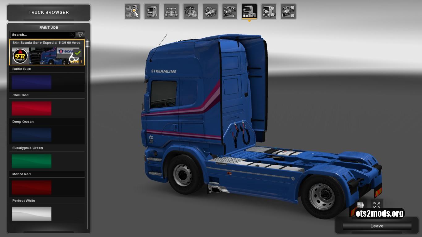 Scania RJL 113 60 Years Skin