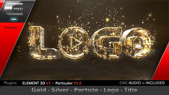 VIDEOHIVE GOLD SILVER PARTICLE LOGO TITLE - FREE FOR YOU