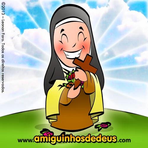 Santa Terezinha Desenho Para Colorir Amiguinhos De Deus